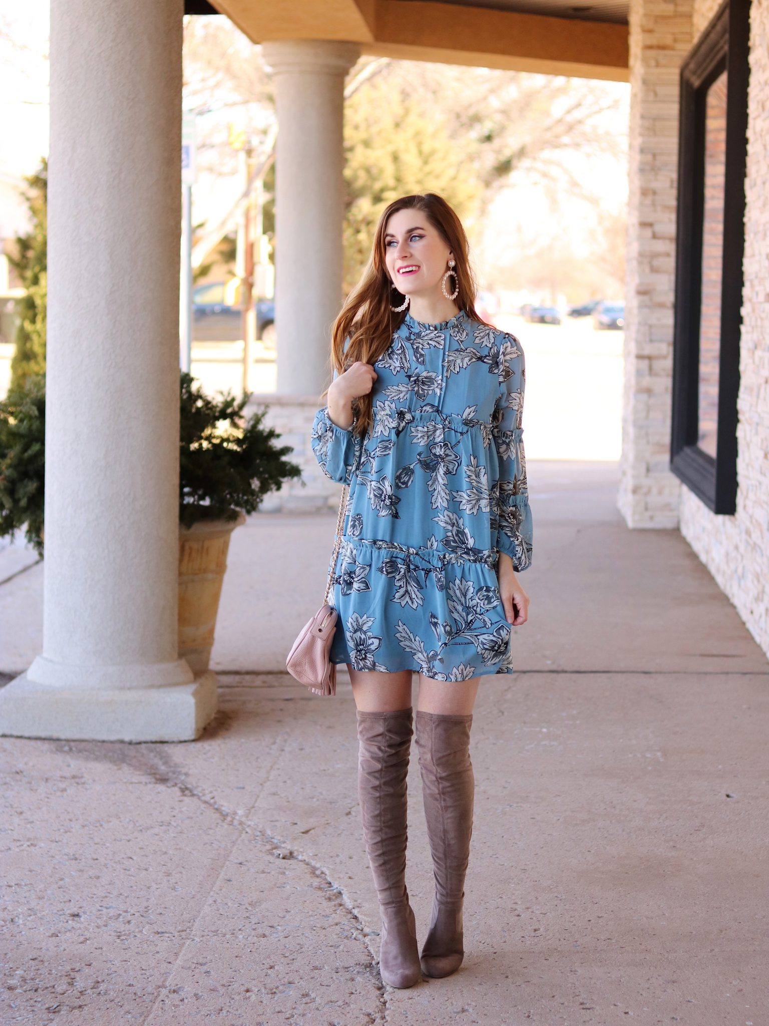 spring-transitional-dress-with-boots - A Byers Guide